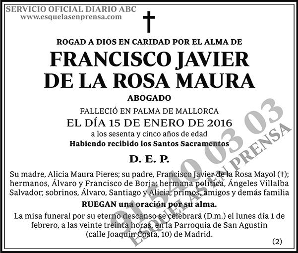 Francisco Javier de la Rosa Maura